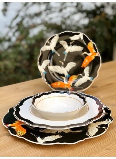 Arow 24 Parça Bone China Yemek Takımı Renkli